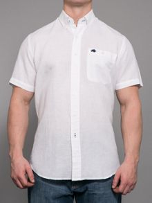 Raging Bull Big and Tall Short sleeve linen shirt