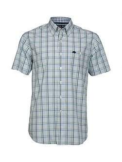 Check short sleeve poplin shirt