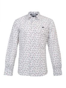 Raging Bull Big and Tall Floral print long sleeve shirt