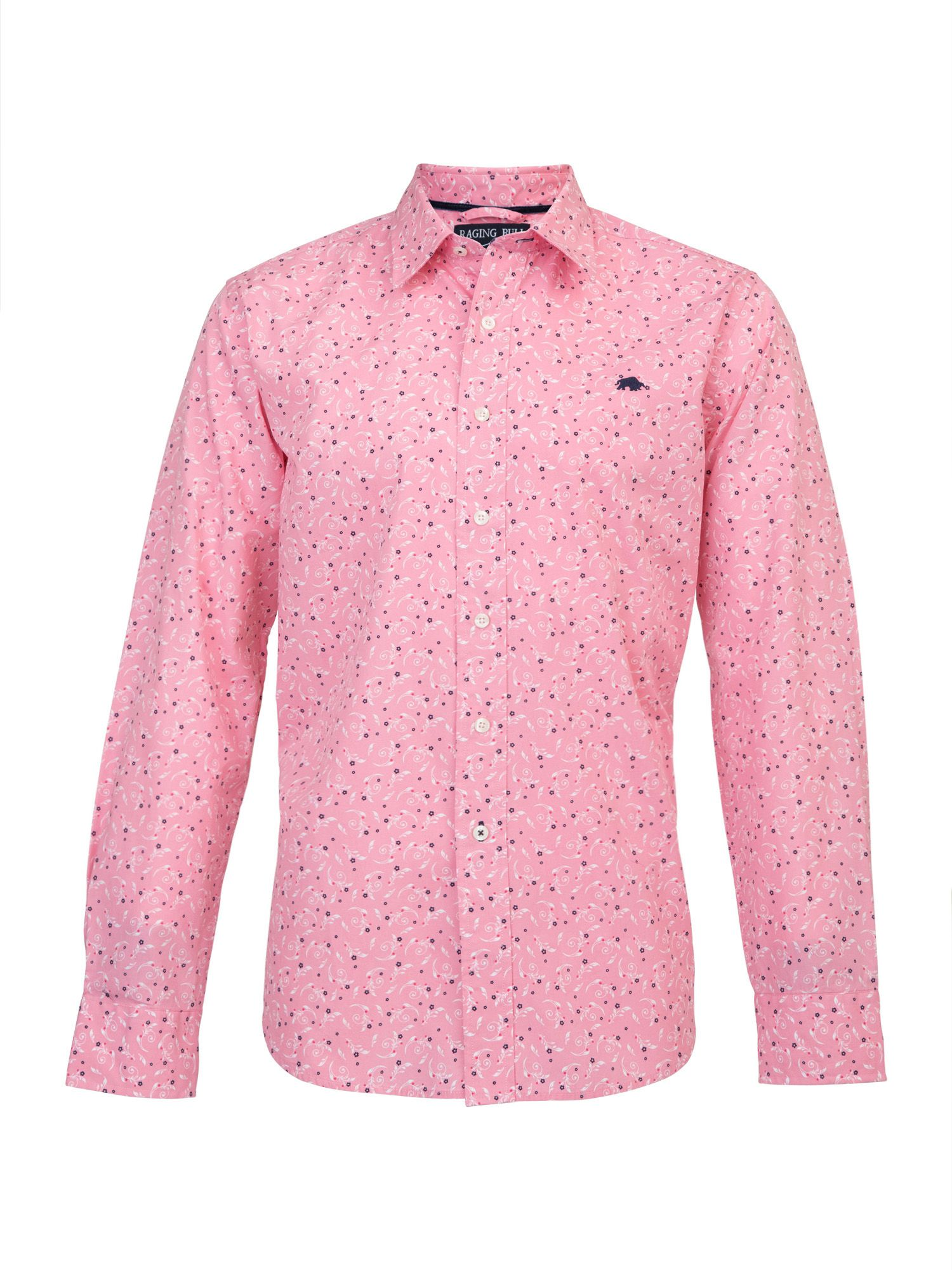 Big and Tall Floral print long sleeve shirt