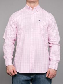 Oxford gingham long sleeve shirt