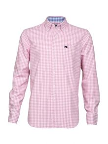 Big and Tall Oxford gingham long sleeve shirt