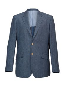 Casual button linen jacket