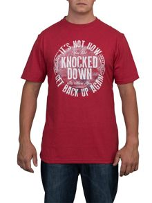 Big and tall get back up t-shirt