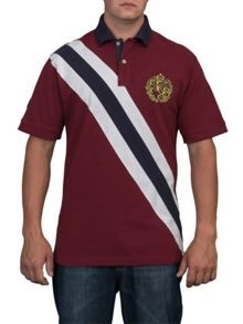 Big And Tall Diagonal Stripe Polo Shirt