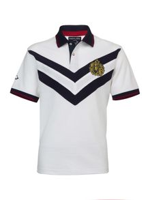Big and tall double chevron polo shirt