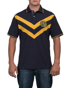 Raging Bull Big and tall double chevron polo shirt