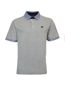 Raging Bull Big And Tall Gingham Collar Polo Shirt