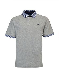 Big And Tall Gingham Collar Polo Shirt