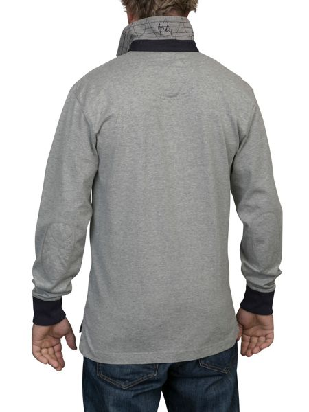 Raging Bull Big and tall quilted rugby shirt