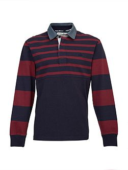 Big And Tall Contrast Sleeve Rugby Shirt