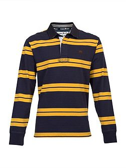 Big And Tall Double Stripe Rugby Shirt