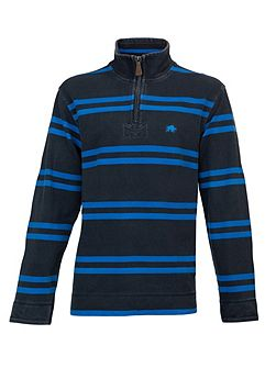 Big and tall double stripe 1/4 zip top
