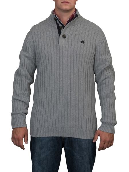 Raging Bull Big and tall funnel neck jumper