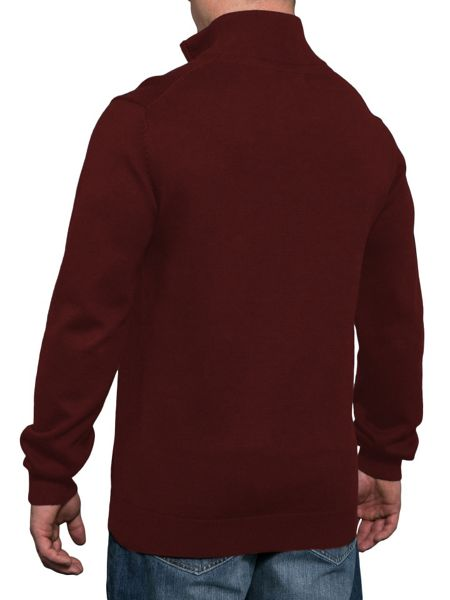 Raging Bull Big and tall cashmere 1/4 zip jumper