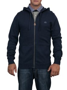 Big and tall zip thru hooded jumper
