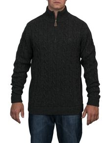 Cable knit 1/4 zip jumper