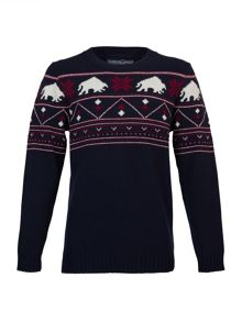 Big and tall fairisle jumper