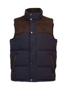 Big and tall suede shoulder gilet