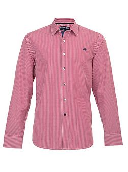 Big and tall long sleeve fine stripe shirt