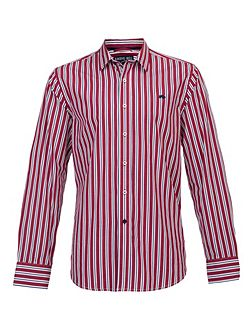 Big and tall long sleeve multi stripe shirt