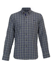 Big and tall long sleve small check cotton shirt