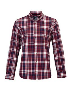 Long sleeve large multi check shirt