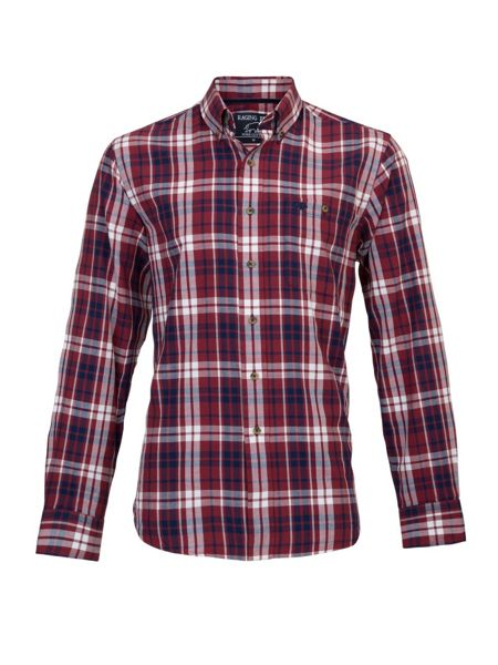 Raging Bull Long sleeve large multi check shirt