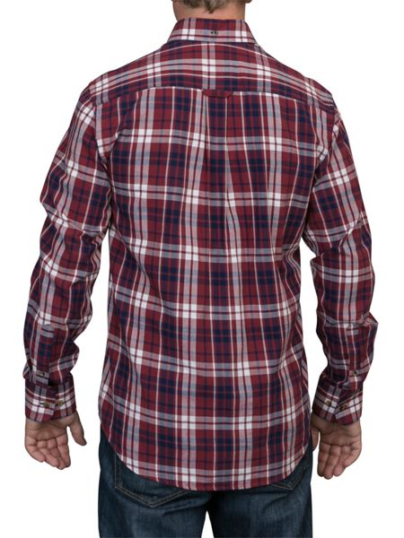 Raging Bull Big And Tall Long Sleeve Large Multi Check Shirt
