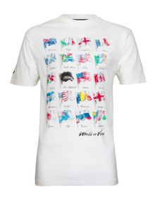 World Cup Flags Crew Neck T-Shirt
