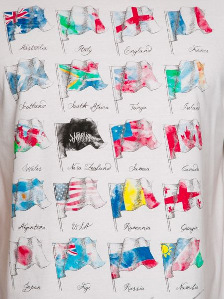 Raging Bull World Cup Flags Crew Neck Regular Fit T-Shirt