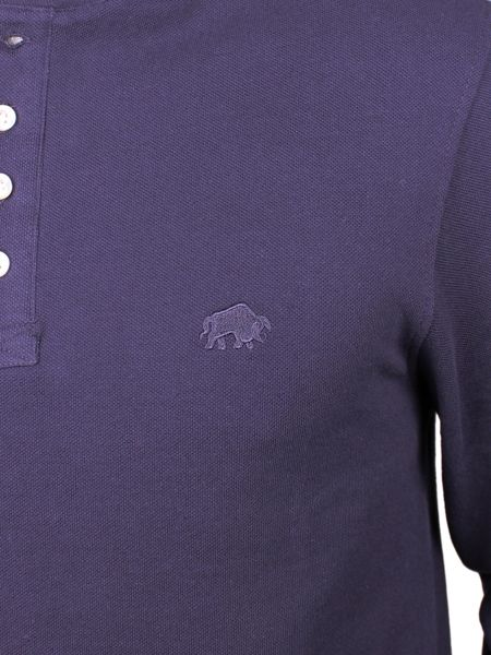 Raging Bull Pinque Henley Plain Crew Neck Regular Fit T-Shirt