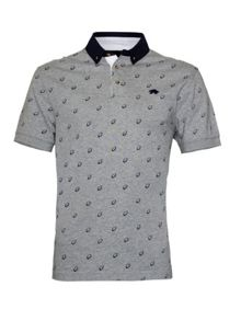Raging Bull Print Regular Fit Polo Shirt