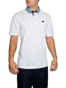 Raging Bull Chambray Plain Regular Fit Polo Shirt