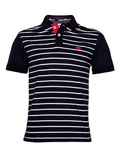 Fine Stripe Regular Fit Polo Shirt
