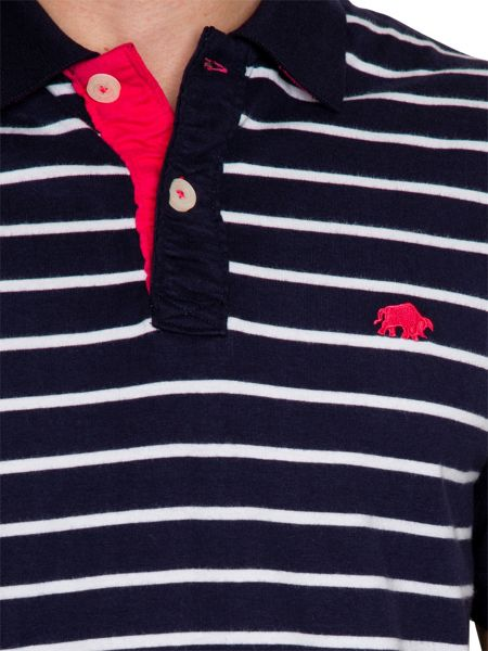 Raging Bull Fine Stripe Regular Fit Polo Shirt