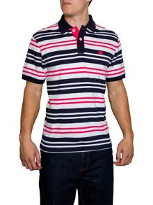 Raging Bull Varied Stripe Regular Fit Polo Shirt