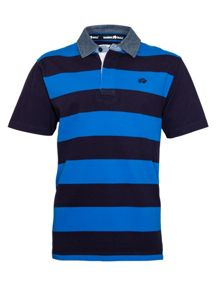 Raging Bull Stripe Regular Fit Rugby Top