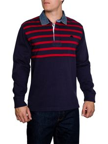 Stripe Regular Fit Rugby Top