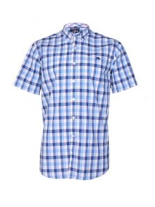 Raging Bull Voile Check Short Sleeve Button Down Shirt