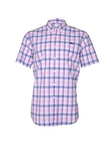 Voile Check Short Sleeve Button Down Shirt