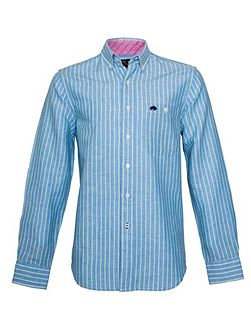 Stripe Long Sleeve Button Down Shirt