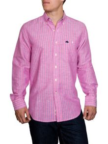 Raging Bull Stripe Long Sleeve Button Down Shirt