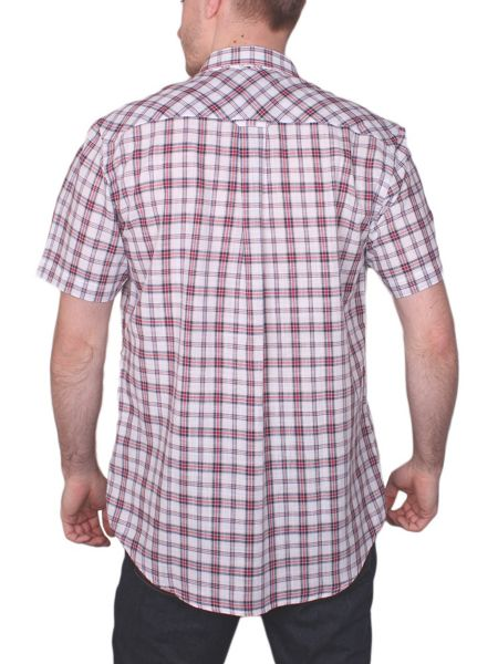 Raging Bull Check Short Sleeve Button Down Shirt