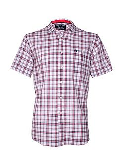 Check Short Sleeve Button Down Shirt