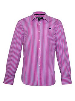 Varied Stripe Long Sleeve Classic Collar Shirt
