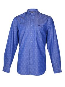 Dobby Polka Dot Long Sleeve Classic Collar Shirt
