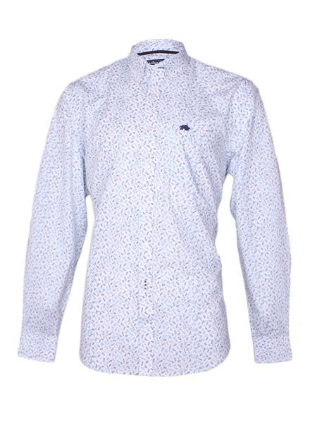 Raging Bull Dobby Polka Dot Long Sleeve Classic Collar Shirt