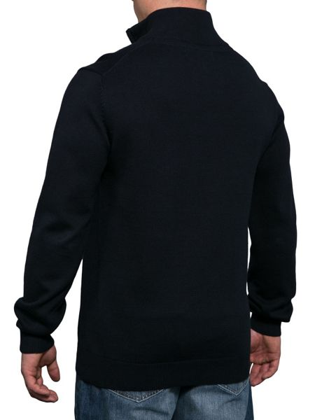 Raging Bull Plain Half Zip Neck Jumper