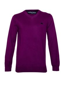 Raging Bull Big And Tall V-Neck Cotton Cashmere Jumper
